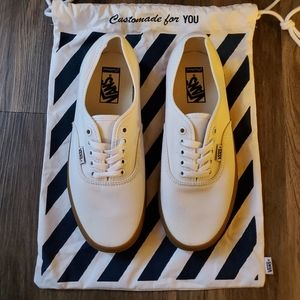 BRAND NEW! VANS CUSTOMS AUTHENTIC TRUE WHITE GUM